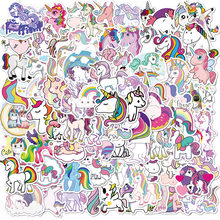 10/50/100pcs Stickers for Unicorn Cartoon Animal Waterproof Cute Graffiti Sticker To DIY Luggage Bike Notebook Laptop stickers