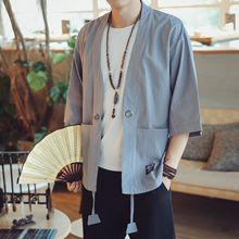 2019 New Retro Kimono Cardigan Coat Japanese Men Jacket Streetwear Mens Clothing