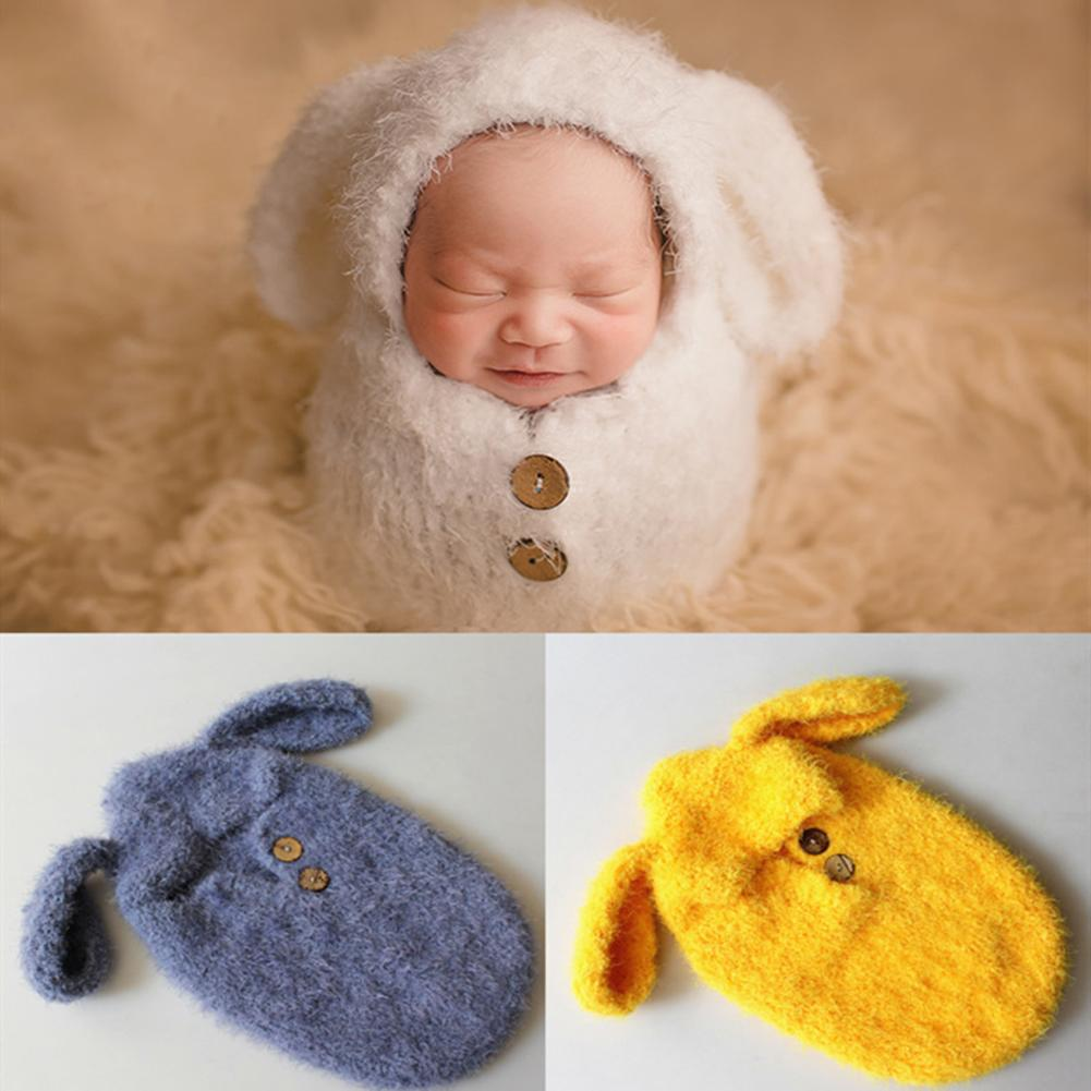 Newborn Baby Photography Props Kids Photography Clothing Potato Sleeping Bag Warm Soft With Ear One-piece Sleep Bag Outfits
