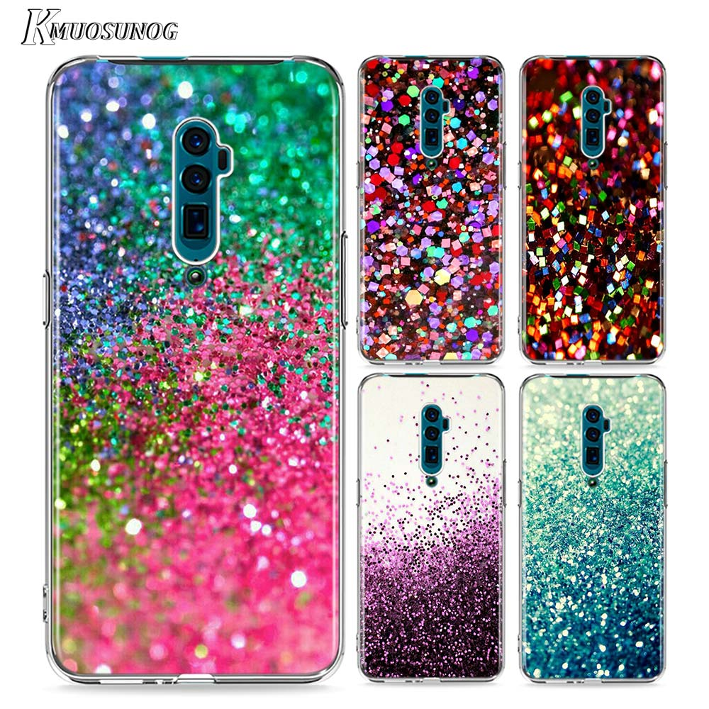 Clear Soft TPU Cover Glitter Sand printing art for <font><b>OPPO</b></font> Reno Aice 2 Z 10X Zoom F11 <font><b>F9</b></font> F7 F5 A7 R9S R17 C2 Pro <font><b>Phone</b></font> <font><b>Case</b></font> image