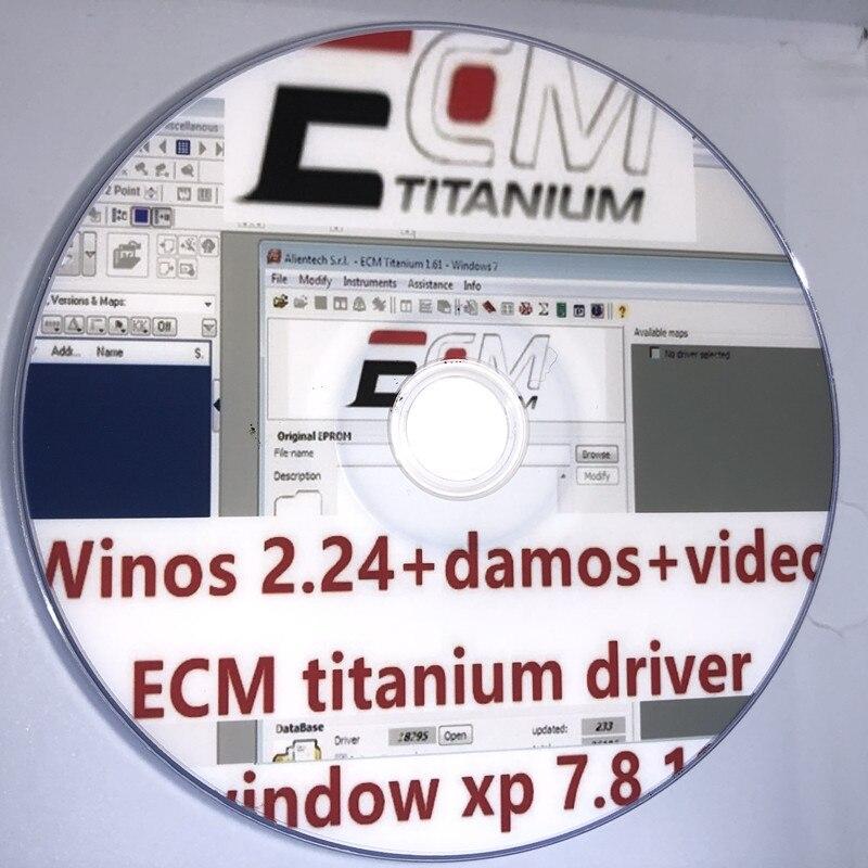 Лидер продаж 2021, Winols 2,24 + Ecm Titanium 26000 + аппарат для разблокировки + Damos-файлы + видео + руководство пользователя, диагностический инструмент