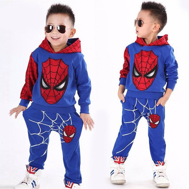 2020 New Year of the Spider Boys clothing set tracksuit Boys Spring Clothes Spider-Man Cosplay Costumes Kids Clothing