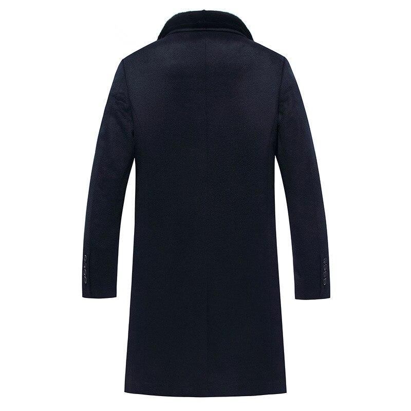 100%Wool Coat Winter Jacket Men 90% Duck Down Jackets Mens Mink Fur Collar Woolen Coats Plus Size JLK18BZ8013 MY1371
