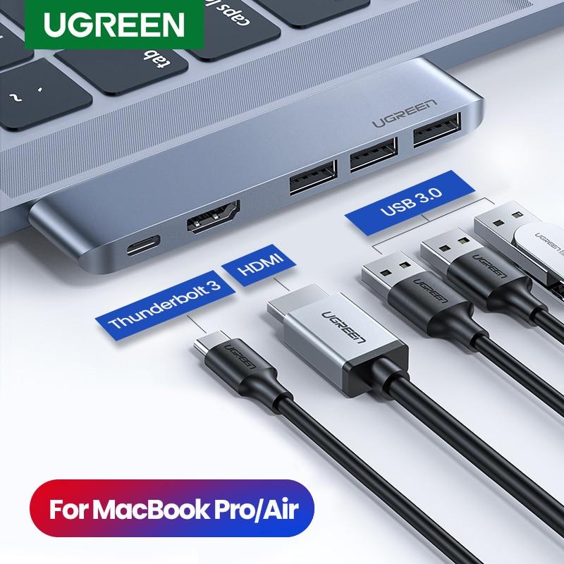 Ugreen USB Type C HUB Dual USB-C To Multi USB 3.0 HDMI For MacBook Pro Air Adapter Thunderbolt 3 Dock USB C 3.1 Port Type-C HUB