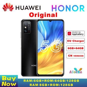 Купить Оригинальный Смартфон HONOR X10 Max 5G, большой экран 7,09 дюйма, Восьмиядерный процессор MT6873, 22,5 Вт, суперзарядка, разблокировка fack