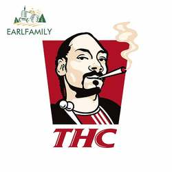 EARLFAMILY 13cm x 10.1cm for Thc He Official Logo Decals Waterproof Vinyl Funny Warp Personality DIY Laptop Trunk Car Stickers