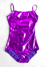 Speerise Adult Shiny Camisole Gymnastics Leotard Women's Sleeveless Metallic Leotards V Back Girl Ballet Catsuit