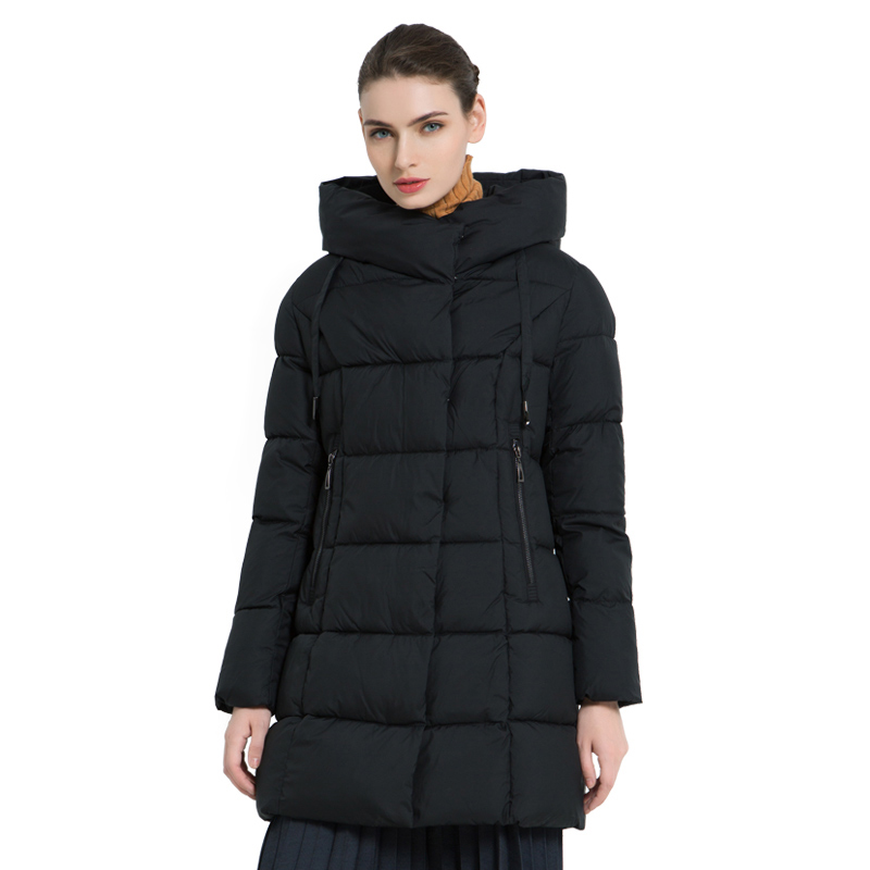 ICEbear 2019 New Winter Ladies Jacket High Quality Coat casual Jackets Winter Warm Female Parkas Brand Women Clothing GWD18222I