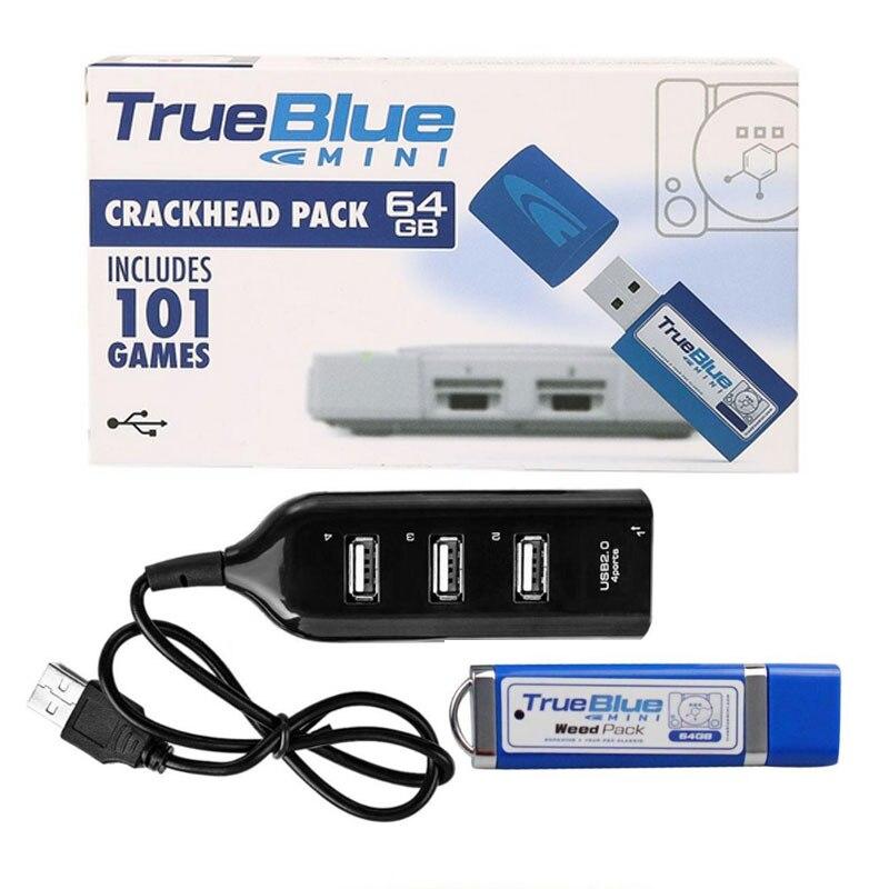 64 GB/32 GB True Blue Mini Viciado Em Crack Pack 101 Jogos para PlayStation Jogos Clássicos Acessórios Para PS1 Jogo console de metanfetamina pack
