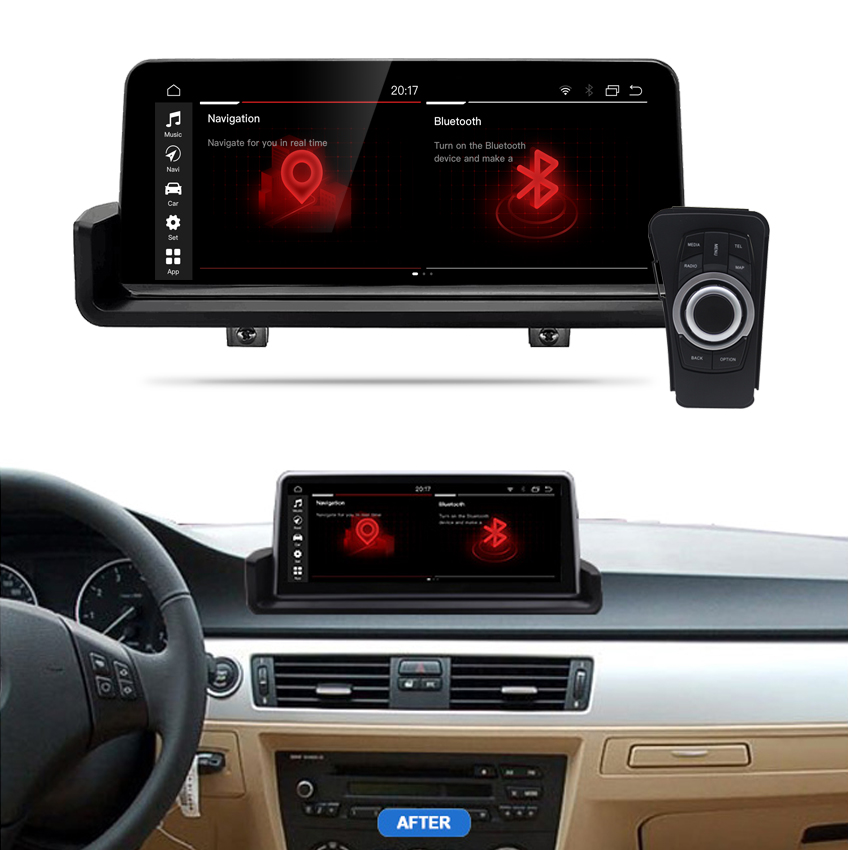 10.25inch 4g RAM Android 10.0 8Core CPU Car Multimedia Player <font><b>Gps</b></font> Navigation With Idrive For B-M-W <font><b>E90</b></font> E91 E92 E93 image