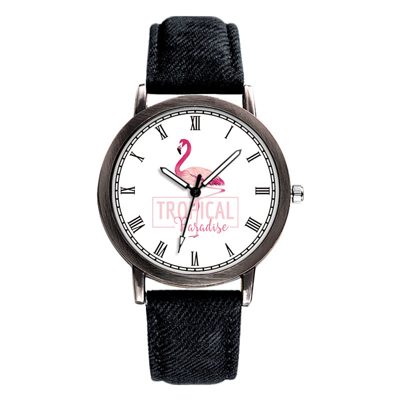 Little Swan Trend Casual Simple Personality Fashion Child Watch PU With Simple Quartz Watch Christmas Gift