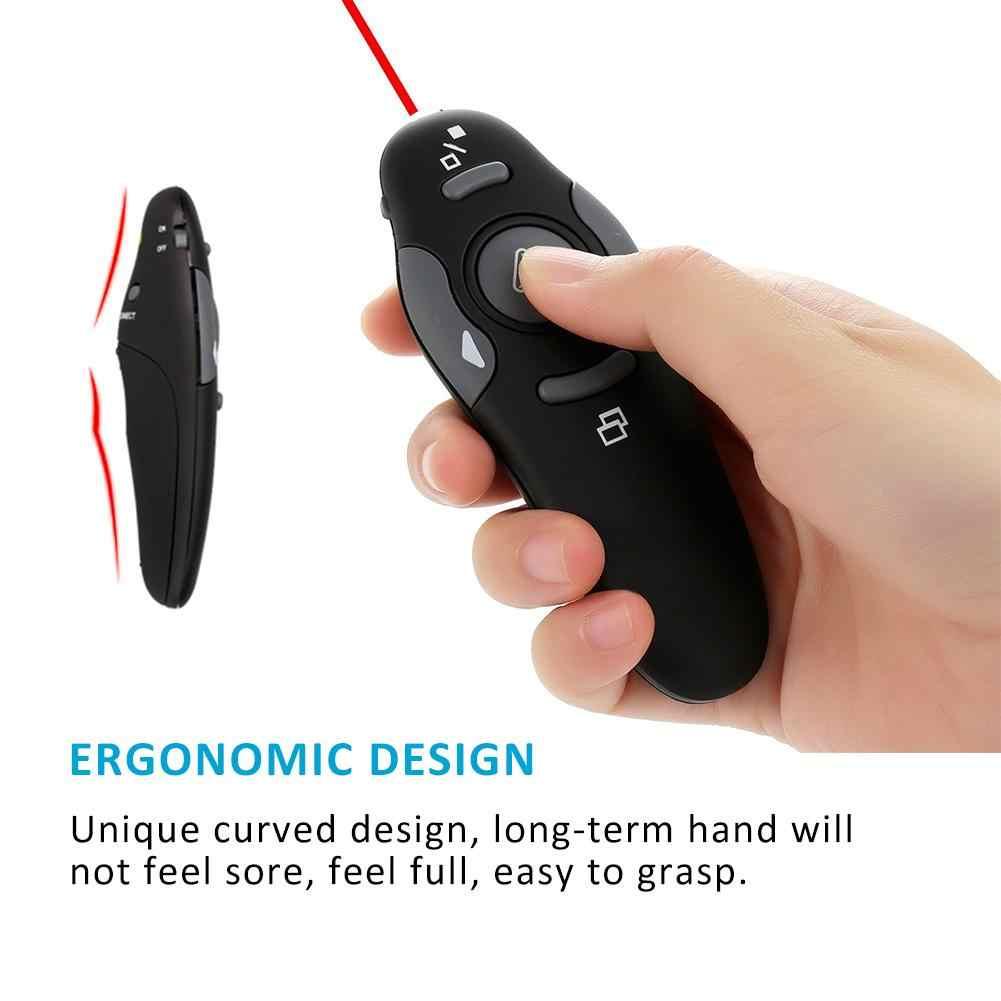 לייזר מצביע מגיש כוח נקודת לייזר עט השלט מצגת מרחוק RF אלחוטי USB 2.4GHz אדום לייזר אור לייזרי נקודה