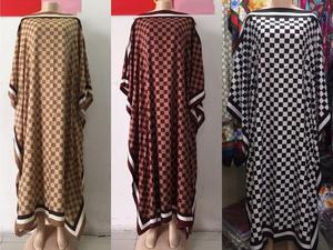 Image 5 - Długość sukni: 130cm biust: 130cm 2018 nowe modne sukienki Bazin nadrukiem Dashiki kobiety długa sukienka/suknia Yomadou kolorowy wzór oversize