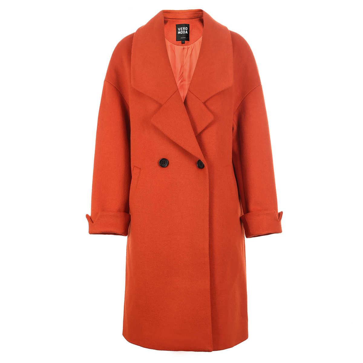 Vero Moda Winter Women Loose Fit Single-breasted Wool Coat Overcoat Jacket| 318327529