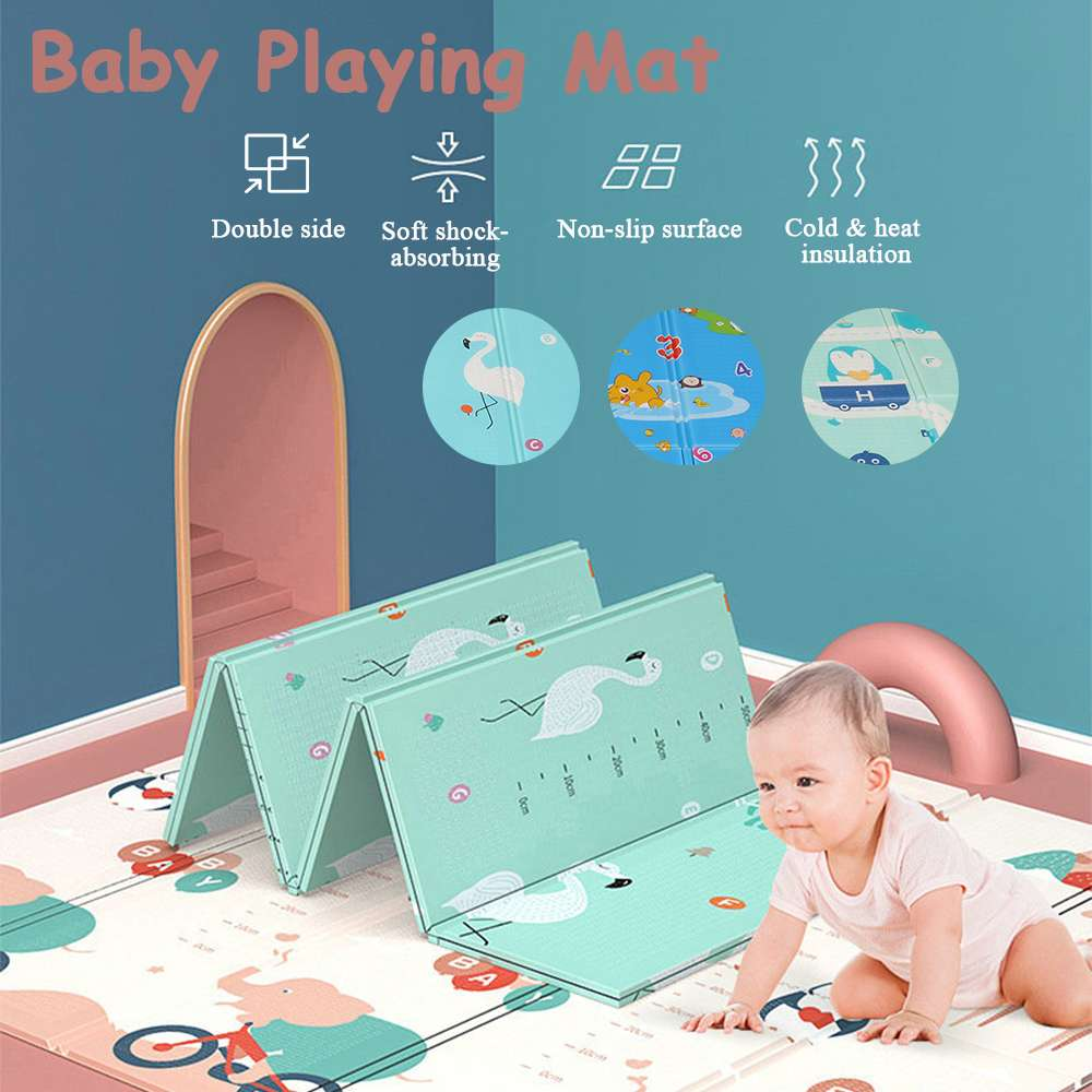 Foldable Cartoon Baby Play Mat Xpe Puzzle Children's Mat Double-Sided Climbing Pad Waterproof Non-Toxic Soft Games Mats Kids Rug