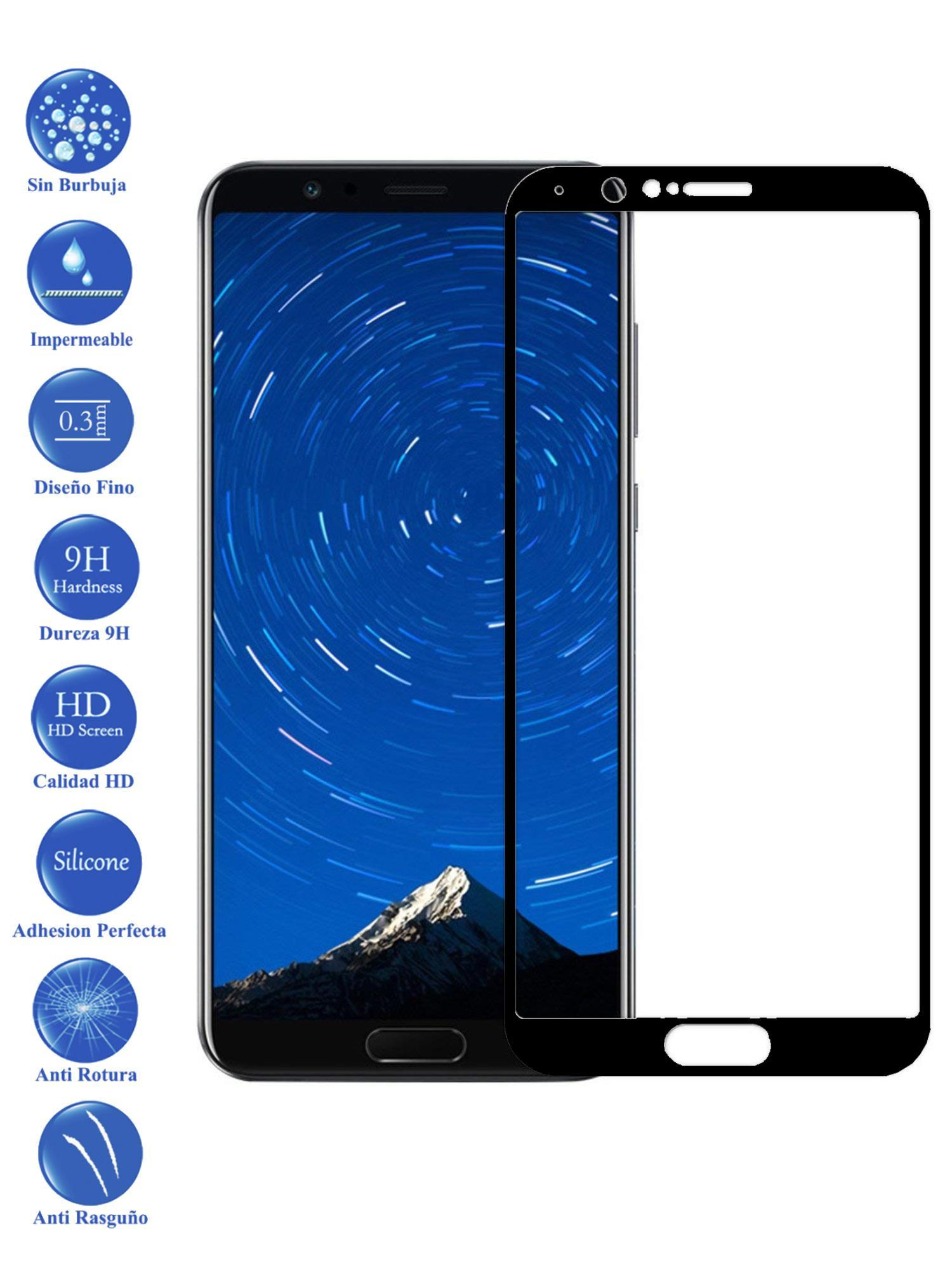 Protector De Pantalla Huawei Honor V10 View 10 Negro Completo Cristal Templado