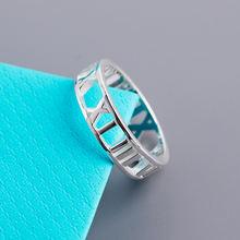 Роскошные настоящие кольца на палец s925 с римскими цифрами