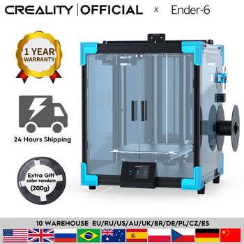 CREALITY 3D Printer New Core-XY Ender-6 Large Printing 250*250*400MM Silent motherboard Carborundum glass print bed Resume
