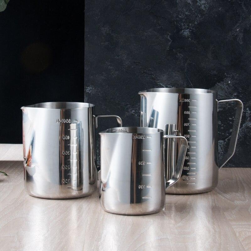 Eworld paslanmaz çelik süt köpürtme sürahi Espresso kahve kupa sürahi Barista Craft kahve Cappuccino bardak Latte Pot SP121815