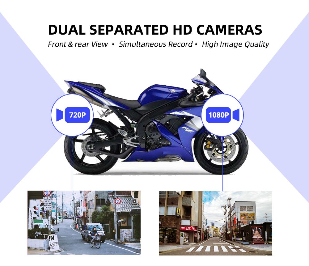 Hd камера с двумя объективами Водонепроницаемый Видеорегистраторы