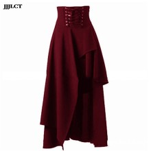 Renaissance gothic masquerade party costume pirate hanging skirt lolita style lady vintage medieval skirt bandage(China)