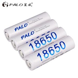 Image 3 - PALO 18650 Rechargeable Battery 3.7v 3200mah NCR18650 Lithium Li ion Rechargeable Battery 18650 For Flashlight batteries(NO PCB)