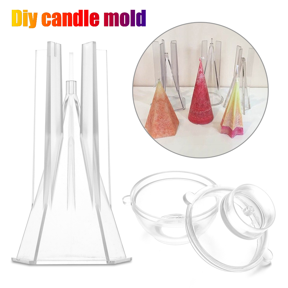 1pcs Candle Mold Pyramid Shape for Home Wedding Candle Making Supply Party