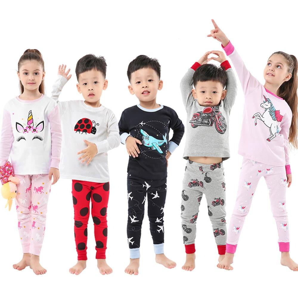 Boys Girls Red Christmas Xmas Pyjamas Pajamas Nightwear Sleepwear Set 1-8 years