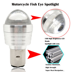 Image 3 - 5PCS H4 LED Bulb Motorcycle H6 Led BA20D Motor Front Light Moto Scooter ATV Headlight 12V Flash Strobe White+Red
