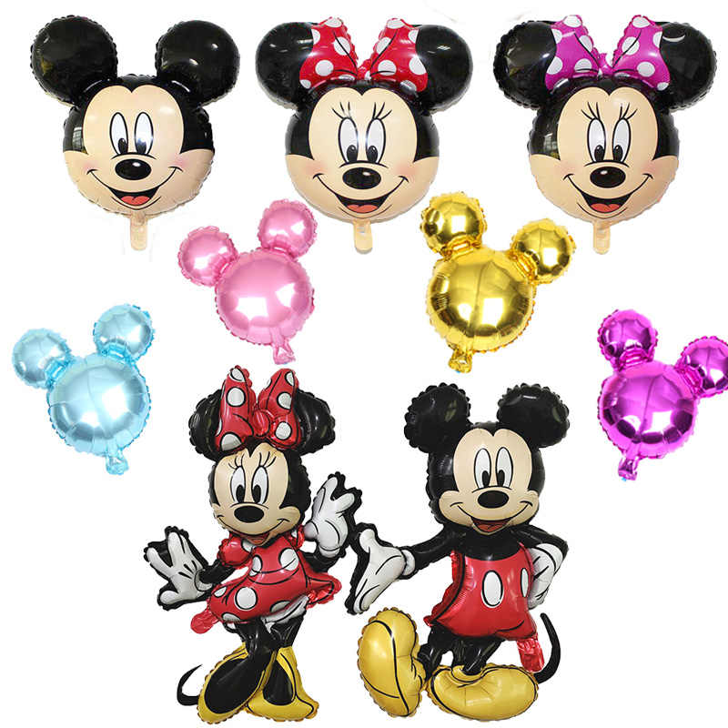 112Cm Cartoon Giant Mickey Minnie Folie Ballon Birthday Party Decorations Kids Baby Shower Party Ballonnen Klassieke Speelgoed