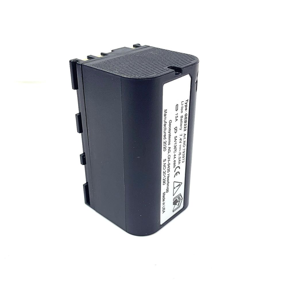 2020 brand new 7.4V 6000mAh Li-ion Battery GEB222 for Leica Total Station GPS system 1200 instruments & Piper <font><b>100</b></font> <font><b>200</b></font> lases image
