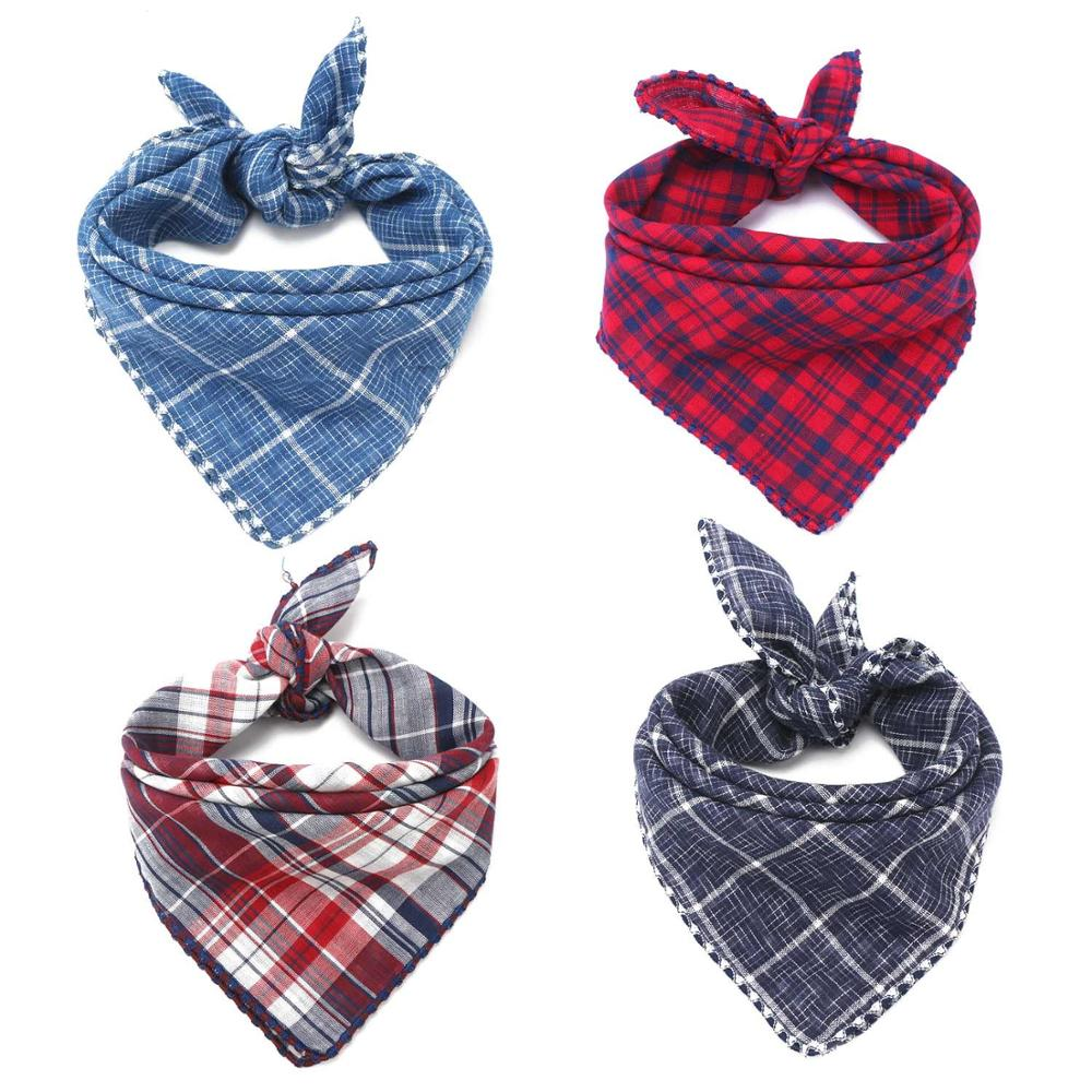 Dog Bandana Scarfs for Puppy Small Medium Large Dogs Plaid Reversible font b Pets b font