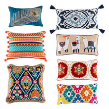 Cushion-Cover Pillowcase Throw with Invisible-Zipper Decorative Sofa Square Rectangle