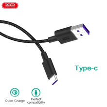 XO 5A Type-C Data Cable Quick Charge Tranfession charging 2 in 1 Tape C fast charge data line for huawei xiaomi Samsung