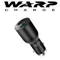 Warp traço carga usb carregador de carro para oneplus 7 t pro 6 t oneplus 7pro original metal duplo usb carregador automático rápido carregamento do carro|Carregadores de celular| |  -