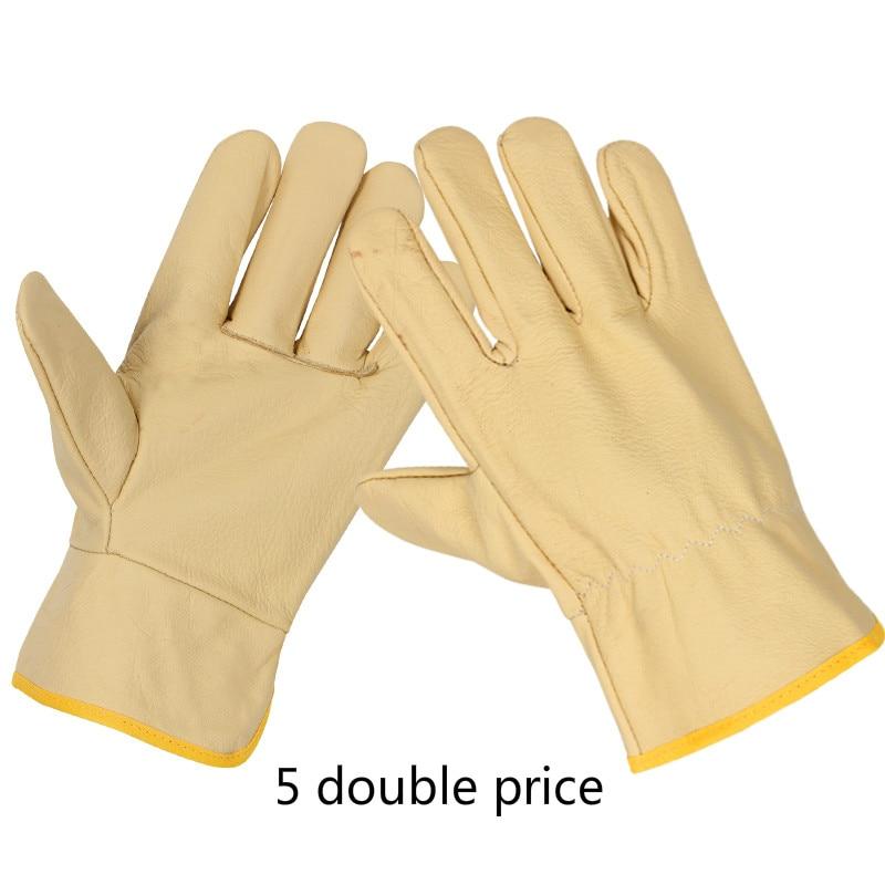 Head Full Cattle Leather Welding Gloves Driver Leather Gloves Welder Welding Machinery Labor Protection Gloves