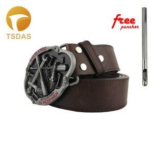 Boucle de ceinture métallique 4cm de large | Mécanique 3D à motif rouge et argent, tête adaptée à la ceinture de 4cm, cadeau pour homme classique, nouveau