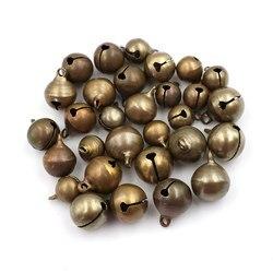 10pcs/lot 10/12/14cm Christmas Tree Decorations Bronze Metal Jingle Bells Loose DIY Crafts Accessories Festival Party Decoration