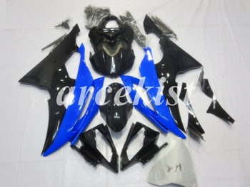 New ABS Motorcycle Full Fairings Kit Fit For YAMAHA YZF-R6 2008 - 2016 08 09 10 11 12 13 14 15 16 body set Blue Black