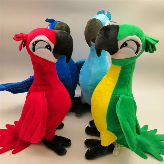 New Cute Rio Parrot Plush Toy  Stand up Parrot Doll Toy Stuffed Macaw Plush Bird Toys 4 Colors