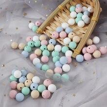 Tyry. hu – perles de Dentition en silicone pour bébé, 30 pièces de 15mm de qualité alimentaire, anneau de Dentition pour bébé, collier cadeau pour infirmière