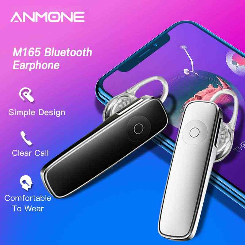 Anmone Bluetooth Earphone M165 Car Wireless Bluetooth Headset Stereo Mini Sports Hanging Headphones For Xiaomi Redmi Note 8 Pro Bluetooth Earphones Headphones Aliexpress