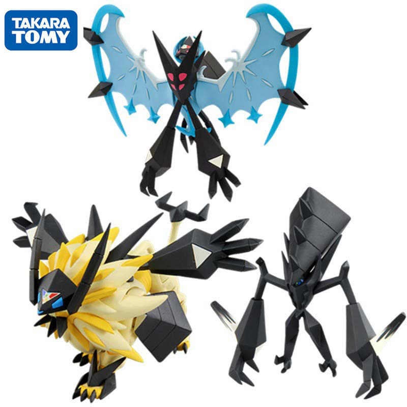 TAKARA TOMY Pokemon Matahari dan Bulan Solgaleo Lunala Necrozma Action Figure Collectible Model Mainan Anime Hadiah untuk Anak-anak