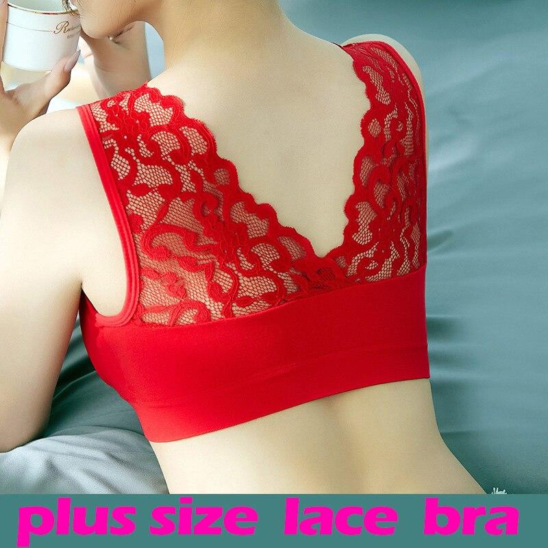 Reggiseni per donna Plus Size reggiseno senza cuciture intimo traspirante Wireless Beauty Back Pad Push Up Lingerie Push Up bh Bra Plus Size 1