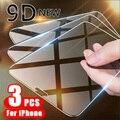 3 шт. полное покрытие защитное стекло на iPhone 11 12 Pro X XR XS Max Защитная пленка для экрана на iPhone 7, 8, 6, 6s, Plus, 5, 5s SE стеклянная пленка