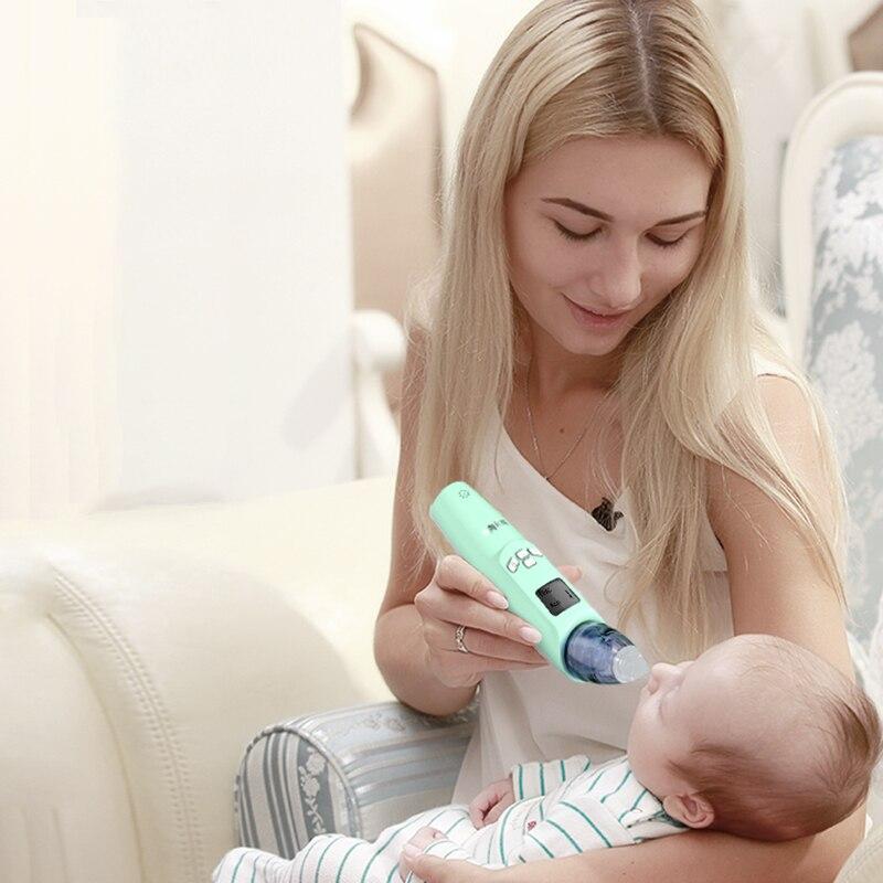 Назальный аспиратор Электрический подогреватель для детских 3 режима скорости цифровой Дисплей устройство для прочистки носа у новорождён...