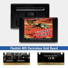 Bóng Của Quái Thú EUR Nhãn Flashkit MD Electroless Vàng PCB Thẻ Cho Sega Genesis Megadrive Video Máy Chơi Game