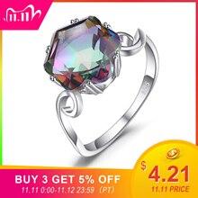 Jewelrypalace 3ct本物のレインボーリング 925 スターリングシルバーリング女性の婚約指輪シルバー 925 宝石ジュエリー