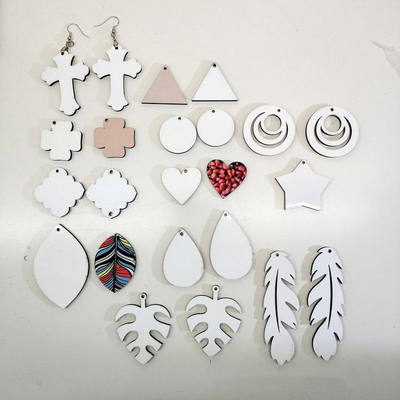 무료 배송 20 짝/몫 승화 여성 빈 MDF 소모품 귀걸이 사용자 정의 사진 wholesales diy 새로운 스타일의 선물을 인쇄 할 수 있습니다