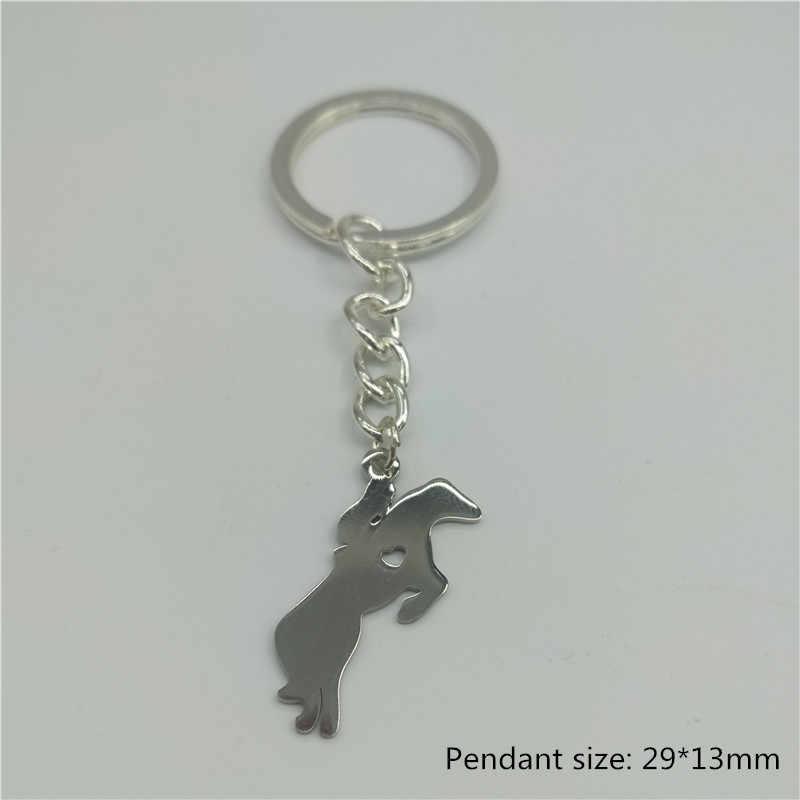 حار جديد العصرية الحصان المفاتيح الفولاذ المقاوم للصدأ الحصان القلب قلادة المفاتيح النساء مجوهرات عصرية هدية